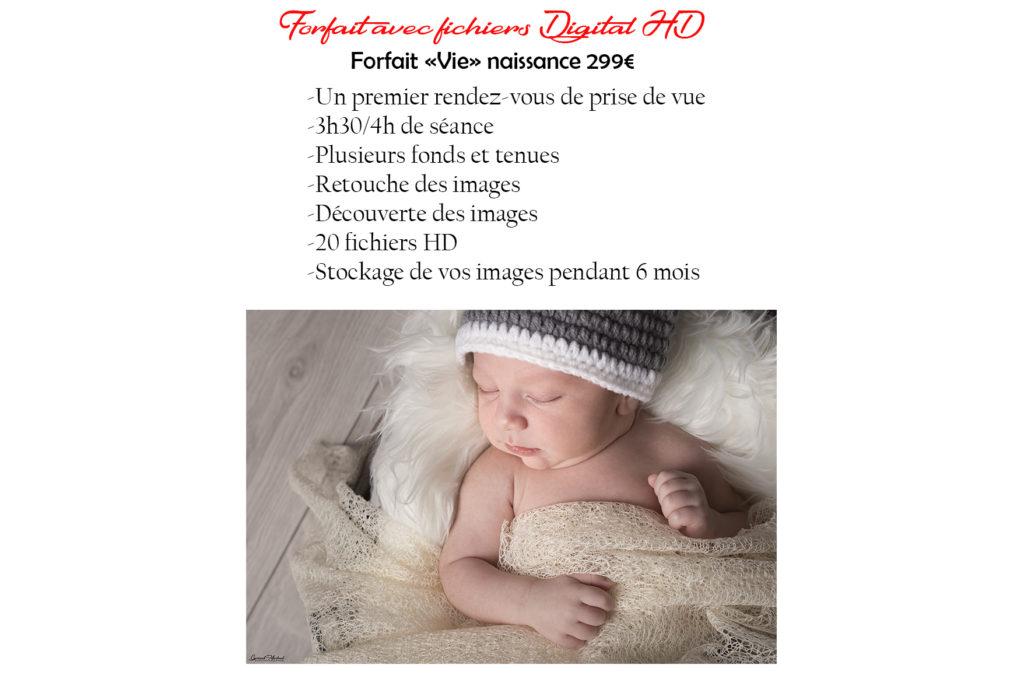 tarifs forfait naissance avec fichiers HD