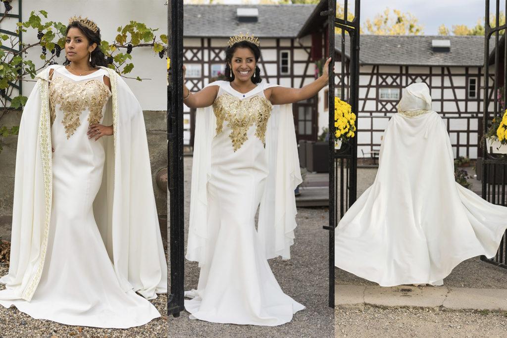 robe de haute couture portee par une miss alsace