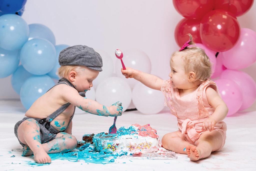 seance bebe anniversaire 1 an smash the cake en studio sur selestat